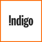 Indigo logo orange border