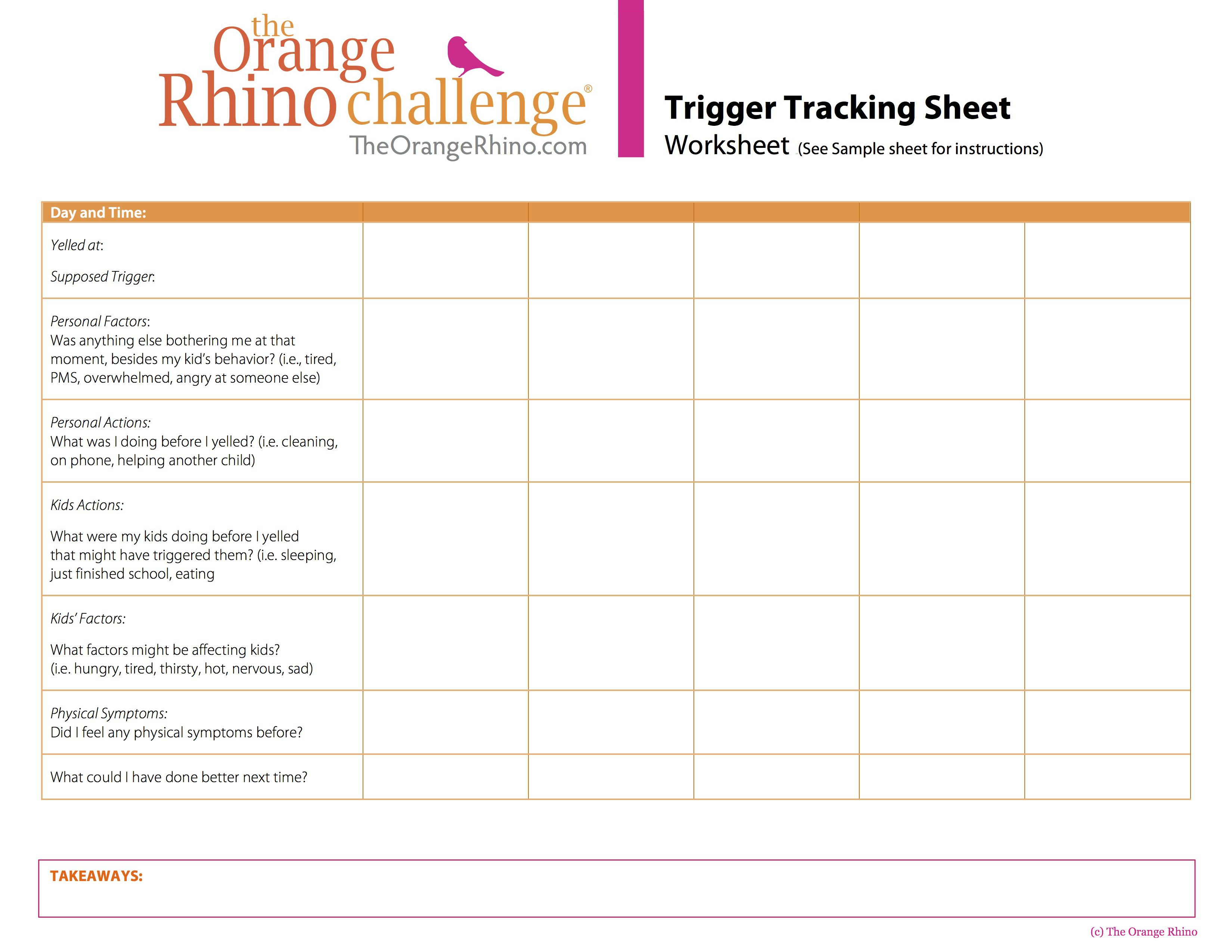 Orange Rhino Trigger Tracking Sheet jpg